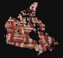 Canada - Canadian Bacon Map - Woven Strips by graphix
