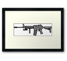 AR-15 Realistic Framed Print