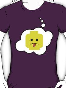 Rude Minifig Head, Bubble-Tees.com T-Shirt