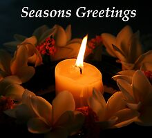 Christmas flame Seasons Greetings by Martin Pot