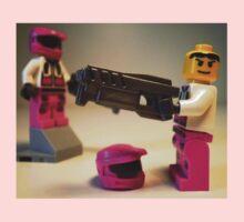 Halo Wars Pink Spartan Soldier Custom Minifigure Kids Clothes