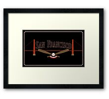 San Francisco Baseball Framed Print