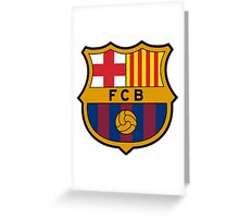 FC Barcelona. Greeting Card