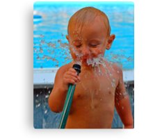 Water fun Canvas Print