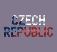 Czech Republic - Czech Flag - Metallic Text Kids Clothes