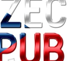 Czech Republic - Czech Flag - Metallic Text Sticker