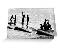 Children Playing  Greeting Card