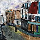 City Square(after Utrillo) by RobynLee