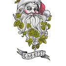 Craft Beer Santa - Cheers! by Sara Wilson