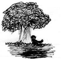 Shadowguy under tree by crazynighthawk