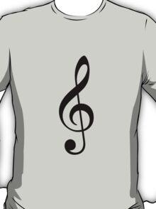 G-clef symbol. T-Shirt