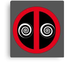 Hypnotized Deadpool Icon  Canvas Print