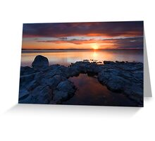 PotHoles Sunset Greeting Card