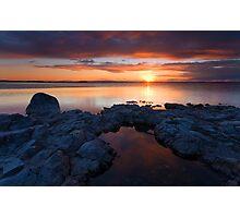 PotHoles Sunset Photographic Print