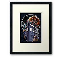 Cute 4th with Enemies + Gallifrey Framed Print