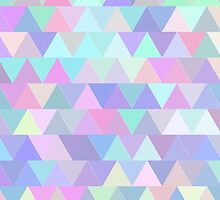 Colorful triangles in blue by HelgaScand