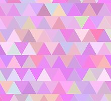 Colorful triangles in pink by HelgaScand