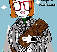 welcome to twin peaks - log lady by geegalaxy