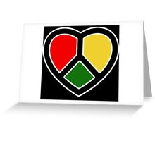 Peace Heart. Love. Greeting Card