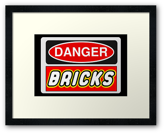 Danger Bricks Sign, Chillee Wilson, Customize My Minifig by ChilleeW