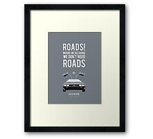 Back To The Future 'Roads' - Grey Framed Print