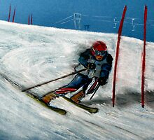 Downhill Skier by Woodie