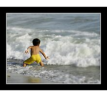 Sparring Against The Wave Photographic Print