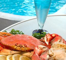 Poolside Crab by Karin  Hildebrand Lau