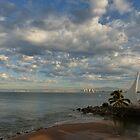 morning atmosphere at the bay of banderas - ambiente en la mañana by Bernhard Matejka