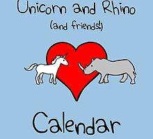 Unicorn and Rhino (and friends!) Calendar by jezkemp