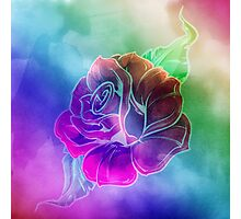 Rose In Bloom - Watercolor Photographic Print