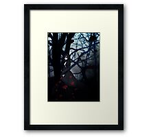 Gothic girl with rose petals 2 Framed Print