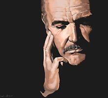 Sean Connery Digital Oil  by CutandSew