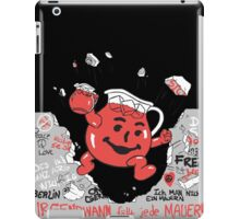 Kool-aid Man Vs Oppression - Tearing Down the Berlin Wall With Flavor iPad Case/Skin