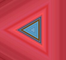 Blue and red triangles by britishphotos