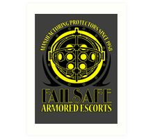 Failsafe Armored Escorts worn Art Print