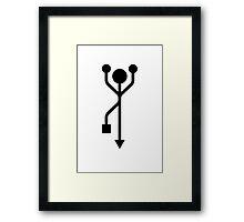 USB Man dancing Framed Print