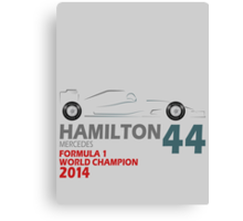 Lewis Hamilton World Champion 2014 Canvas Print
