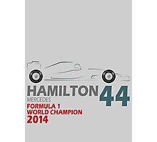 Lewis Hamilton World Champion 2014 Photographic Print