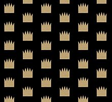 Gold Crown - Modern pattern in bold colors for phone case with gold look by charlottewinter