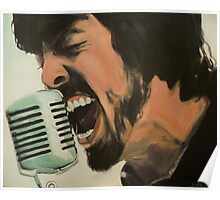Dave Grohl Painting - Singing Best of You Poster