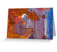 Junkyard Abstract Greeting Card