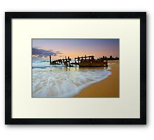 Swallowed by the Tides Framed Print