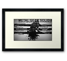 Metal Gear Solid 4 - War Has Changed Framed Print