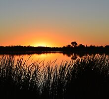 Sunset Over Badger Lake by Mark Hudon
