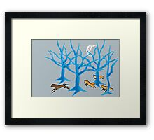 The Foxes Hunt the Hound Framed Print