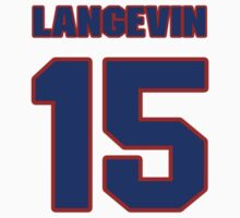 National Hockey player Chris Langevin jersey 15 by imsport