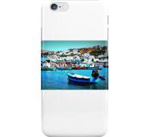 Feeling Nostalgic On The Water In Mykonos, Greece iPhone Case/Skin