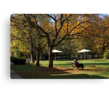 Chatting under the tree Canvas Print