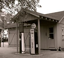 Rural Gas Station by Ron Kizer